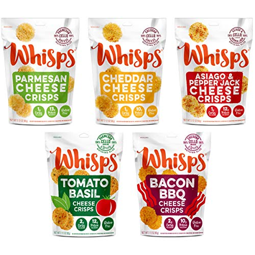 Whisps Cheese Crisps 100% Cheese Crunchy Assortment | Keto Snack...