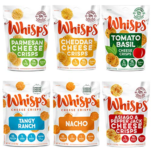 Whisps Cheese Crisps 6 Pack Assortment | Keto Snack, Gluten Free...