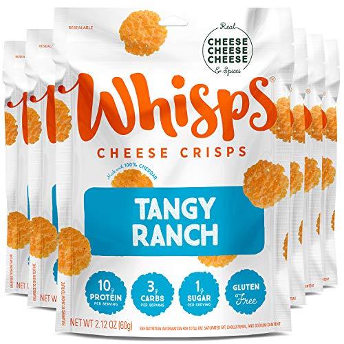 Whisps Tangy Ranch Cheese Crisps | Keto Snack, Gluten Free, Suga...