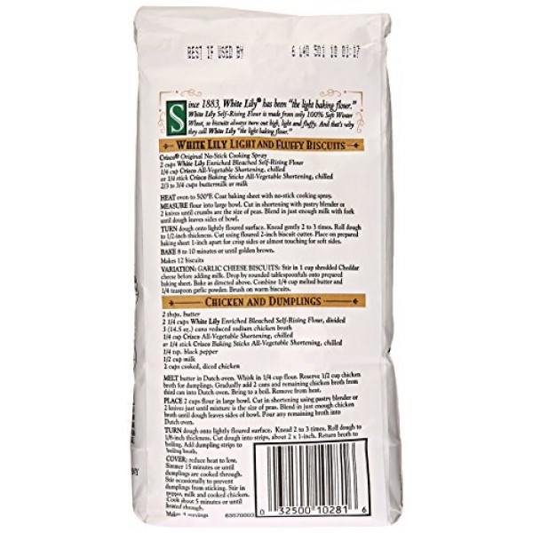 White Lily Self-Rising Bleached Enriched Pre-Sifted Flour, 32 Ounce