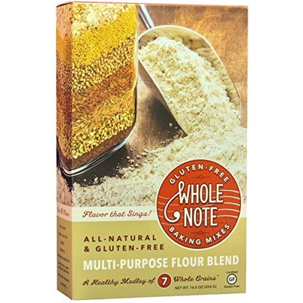 Whole Note Multi-Purpose Flour Blend, 7-Whole-Grain and Naturall...