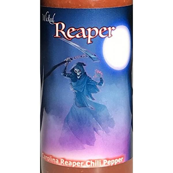 Carolina Reaper Hot Sauce 5 Dried Whole Chili Peppers +2 Free Gi...