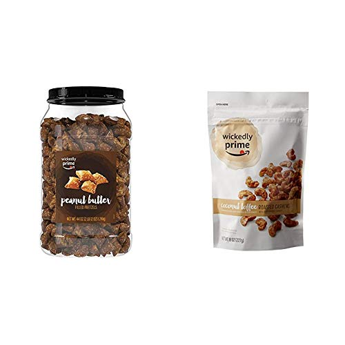 Wickedly Prime Peanut Butter-Filled Pretzels, 44 Ounce & Roasted...