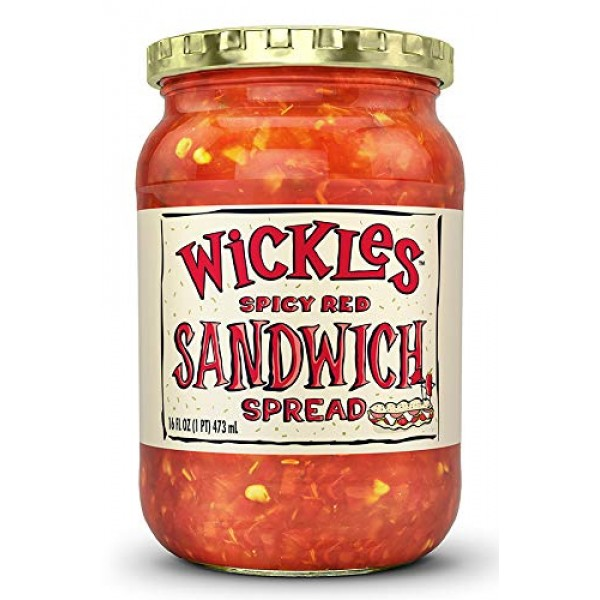 Wickles Spicy Red Sandwich Spread, 16 OZ Pack - 1