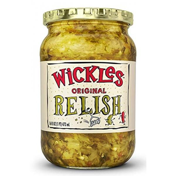 Wickles Original Relish, 16 oz Pack - 3