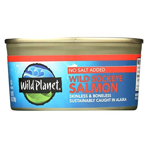 Wild Planet Salmon,Wld Sockeye,Ns 6 Oz Pack Of 12