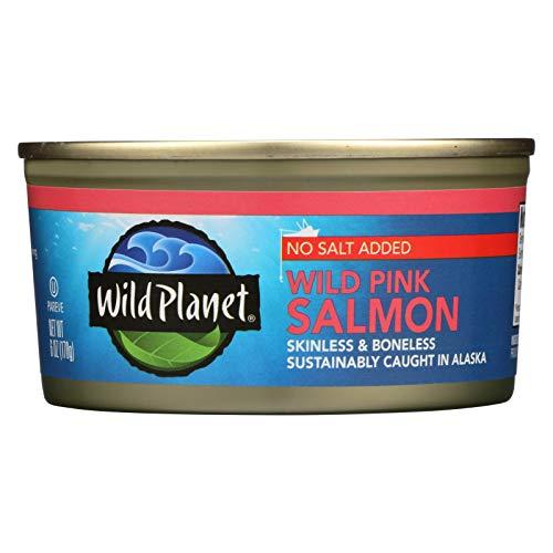 Wild Planet Wild Alaskan Pink Salmon - No Salt Added - Case of 1...