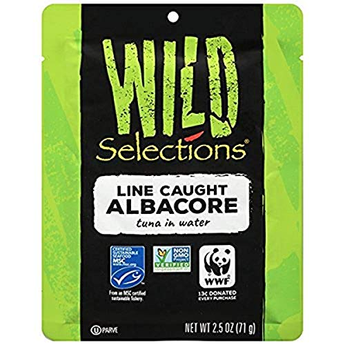 WILD SELECTIONS Line Caught Albacore Tuna Pouch, 2.5 Ounce Pouch...