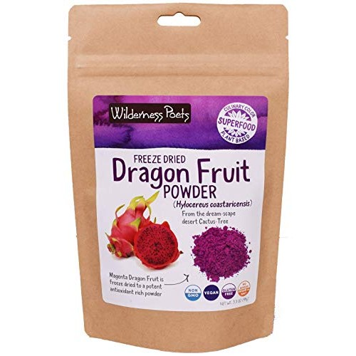 Wilderness Poets Freeze Dried Dragon Fruit Powder - Pink Pitahay...