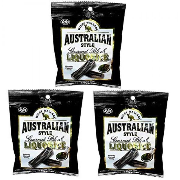 Australian Style Black Licorice - Australian Style - 4 oz, 3 Pack