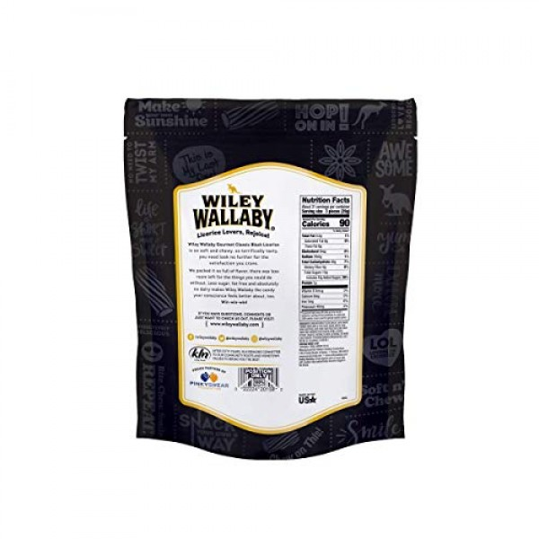 Wiley Wallaby Red & Black Liquorice 4 Pack 5 oz Per Pack