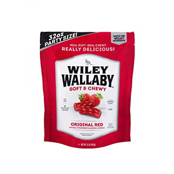 Wiley Wallaby Australian Gourmet Style Red Licorice Candy 32 Oz....