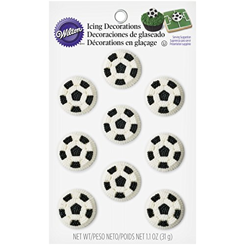 Wilton Soccer Balls Icing Decorations