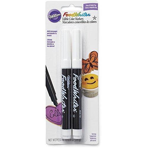 Wilton 609-1192 Black Food Writer Edible Ink Markers 2-Pack