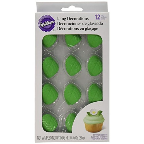 Wilton Leaves Icing Decorations, 12 Pack