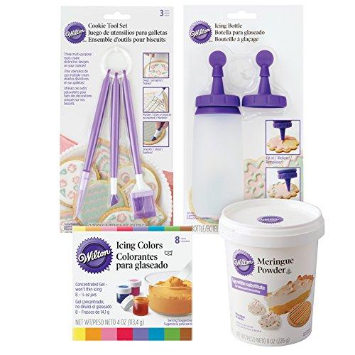 Wilton Sugar Cookie Decorating Kit, 15-Piece - Tool Set, Meringu...