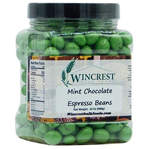 Chocolate Espresso Beans - 1.5 Lb Tub Green Mint Chocolate