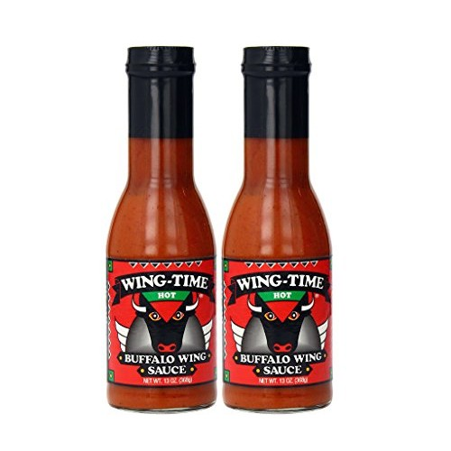 Wing Time Buffalo Wing Sauce, Hot, 13 Ounce Pack of 2