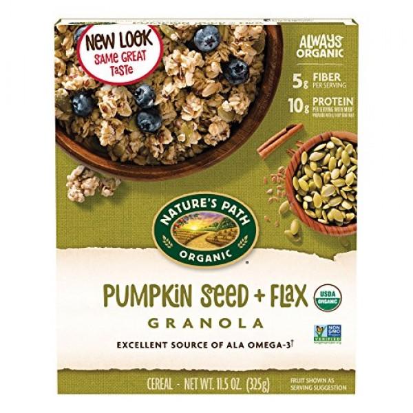 Natures Path Flax Plus Pumpkin Flax Organic Granola, 11.5 oz P...