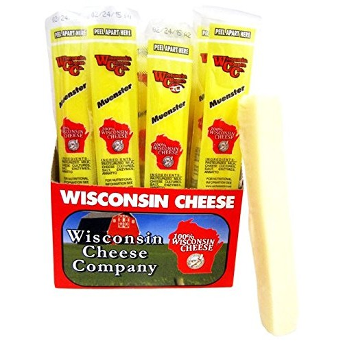 Wisconsin Cheese Companys -1oz. Muenster Cheese Snack Sticks 24ct