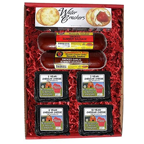 Wisconsin Big Deluxe Elite Aged Cheddar Cheese, Sausage & Cracke...