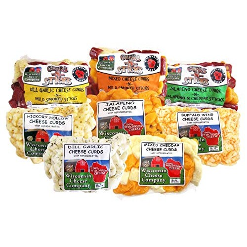 Wisconsin Cheese Companys Deluxe Cheese Curd Sampler 8.25 Lbs...