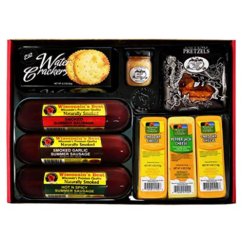 Ultimate Gift Basket with Features Smoked Summer Sausages, 100% ...