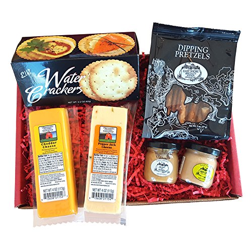 Specialty Gift Basket for Him- features 100% Wisconsin Cheeses, ...