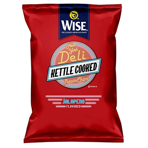 Wise NY Jalapeno Deli Potato Chips, 1.25-Oz Bags (Pack of 36)