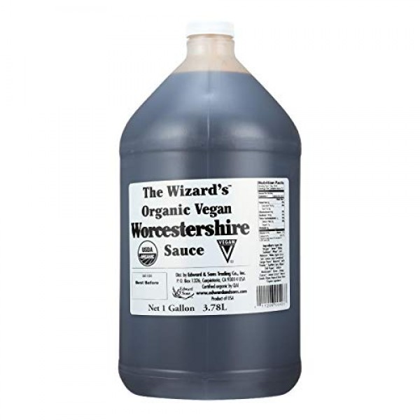 Wizard Organic Sauce - Worcestershire - 128 Ounce , United States,