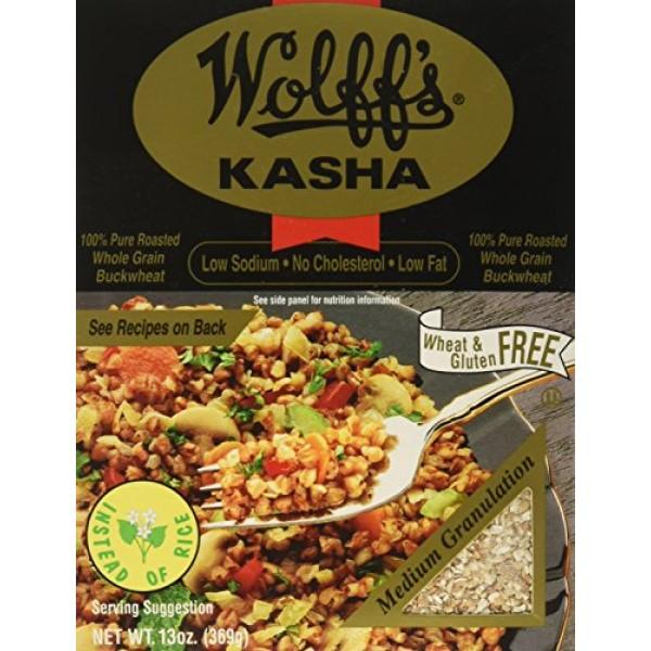 Wolffs Kasha Medium, 13 oz Pack of 6