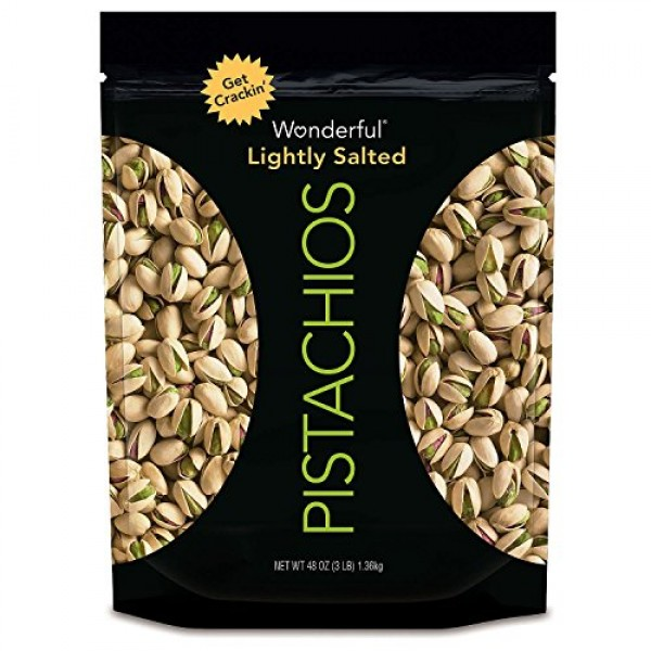 Wonderful Pistachios, Roasted and Salted, 48 Ounce