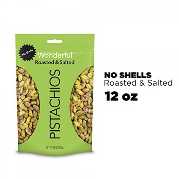 Wonderful Pistachios, Roasted & Salted, 48 oz Resealable Pouch