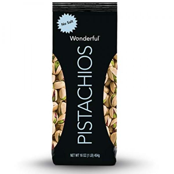 Wonderful Pistachios, Roasted with No Salt, 16 Ounce Bag