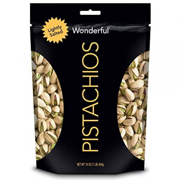 Wonderful Pistachios, Roasted & Lightly Salted, 16 Oz Resealable...