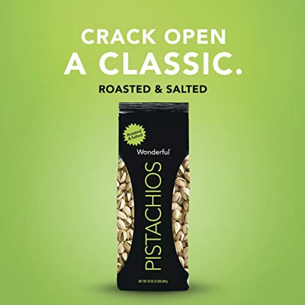 Wonderful Pistachios, Roasted and Salted, 32 Ounce