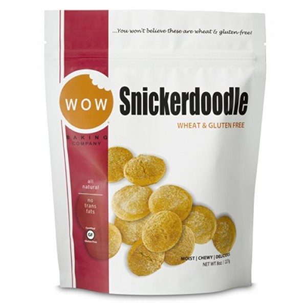 WOW Baking Company Gluten Free Cookies, Snickerdoodle, 8 oz