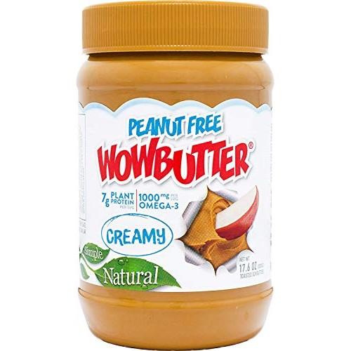 Wowbutter Natural Peanut Free Creamy 6x1.1lb Jars