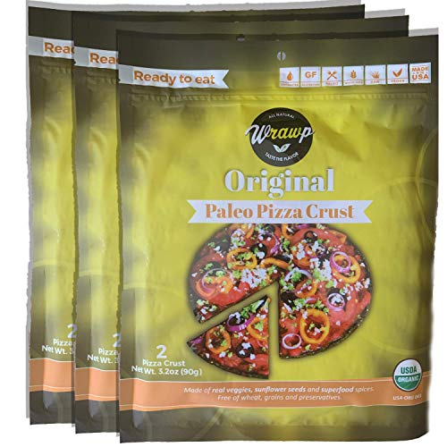Paleo Pizza Crust | 3 Pack Original Flavored Organic Gluten Free...