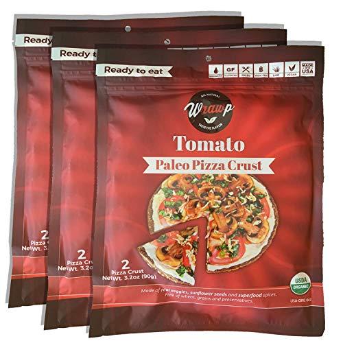 Paleo Pizza Crust | 3 Pack Tomato Flavored Organic Gluten Free, ...