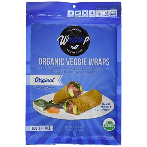 Wrawp Organic Veggie Flatbread, Original, 5.6 Ounce