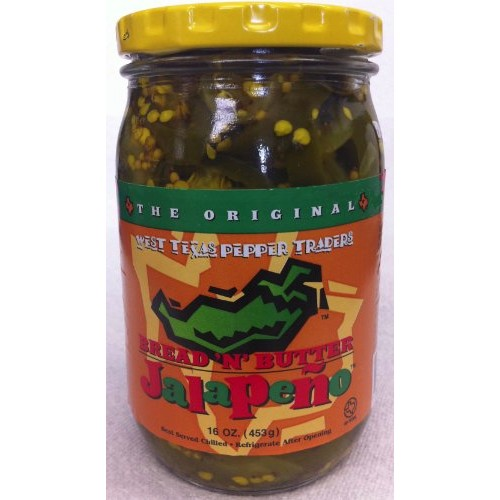 West Texas Pepper Traders Bread N Butter Jalapeno Peppers Slice...