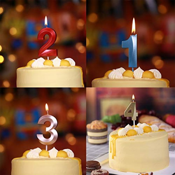 2.76 Extended XXL Large Gold Glitter Happy Birthday Long Numbe...