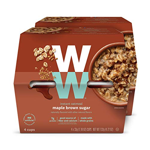 WW Maple Brown Sugar Instant Oatmeal - 3 SmartPoints - 2 Boxes ...