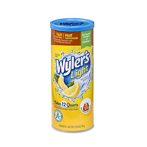 Wylers Light Canister Drink Mix - Half Iced Tea Half Lemonade W...