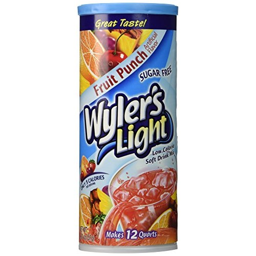 Wylers Light Soft Drink Mix, Fruit Punch, 2.01-Ounce Pack of 6