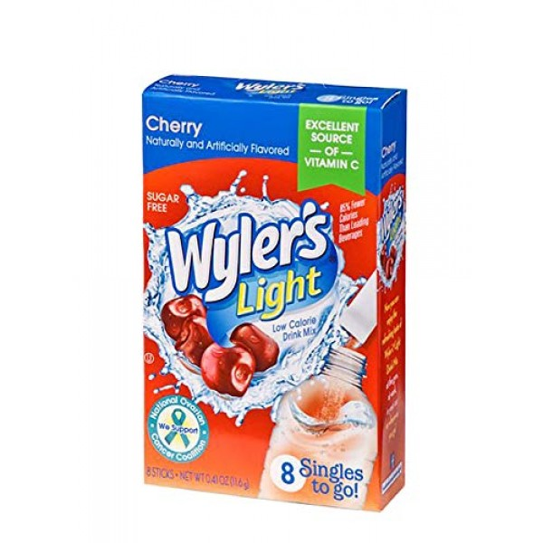 Wyler's Light Singles-To-Go Sugar Free Drink Mix, Cherry, 8 CT P...
