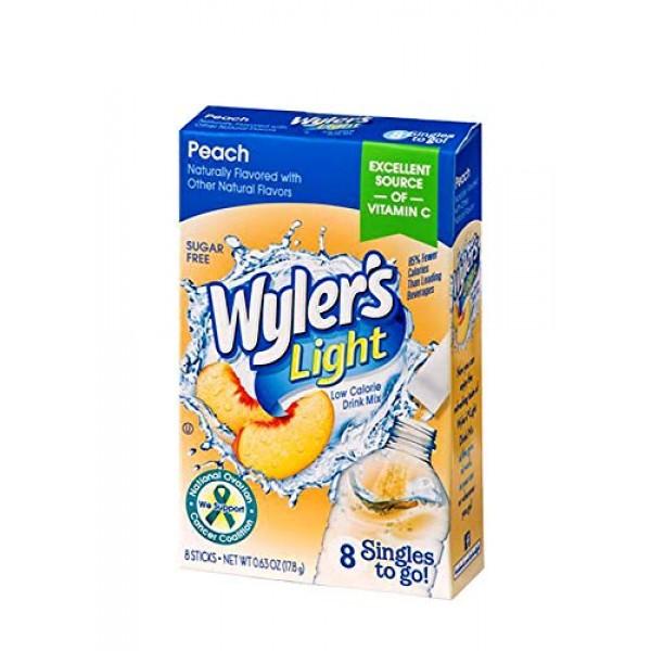 Wyler's Light Singles-To-Go Sugar Free Drink Mix, Peach, 8 CT Pe...