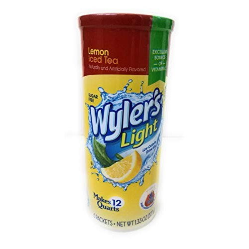 Wylers Soft Drink Mix Iced Tea with Lemon Makes 12 Qts