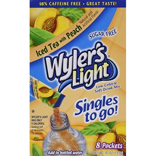 Wylers Light Peach Iced Tea Singles to Go 8 packets each box ...